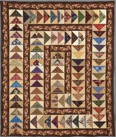 love this for flying geese practice, what a lovely quilt