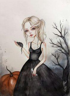 26 Ideas drawing girl hipster inspiration for 2019 Watercolor Art, Sketches, Art Sketchbook, Girl Drawing, Cute Art, Illustration Art, Art, Gothic Art, Beautiful Art