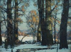 John Fabian Carlson. Afternoon Glow. 1925. Oil on canvas. 46 x 61 cm.