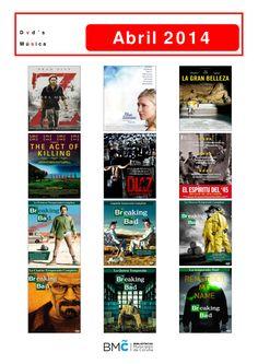 Películas, documentais e a primeira tempada da serie Breaking Bad, dispoñibles na Biblioteca Os Rosales.