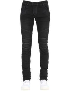 16.5cm Stud Detail Stretch Denim Jeans
