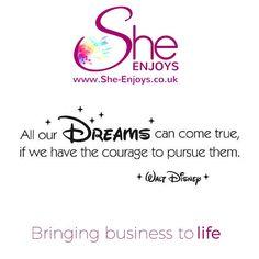 Visit the new concept on #business support for #femaleentrepreneurs www.She-Enjoys.co.uk