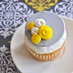 Modern rosette fondant cupcake toppers $24 for 1 dozen