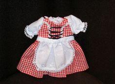 Puppen Dirndl Puppen Trachten Kleid von Schildkröt für 25 cm Puppen