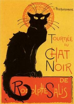 Tournee Du Chat Noir... bought a small poster in Paris. Wish it fit in with our house :/