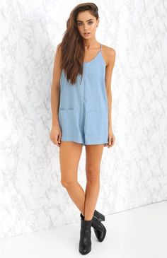 We love the Plus One Playsuit with ankle boots and a felt hat for a cool, casual day look that'll get you where you need to go in serious style!