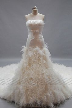 feather wedding dress. If it were a sweetheart neckline.