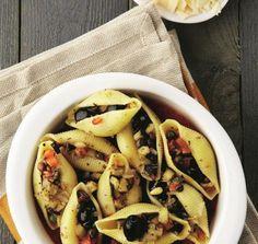 Speels gevulde pastaschelpen • EVA, verleidelijk vegetarisch