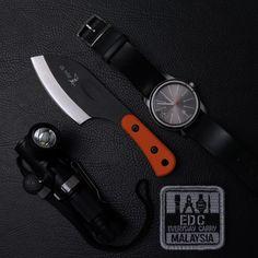 submitted by Inchik AdamCalvin Klein WatchElk Ridge Small Full Tang KnifeFenix MC11 Angle Head FlashlightEDC Malaysia Patch