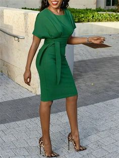 Load image into Gallery viewer, Solid Cap Sleeve Fitted Bodycon Dress Trend Fashion, Womens Fashion, Style Fashion, Fashion Top, Fashion Brands, Office Dresses For Women, Ladies Dresses, Church Dresses For Women, Short Sleeve Dresses