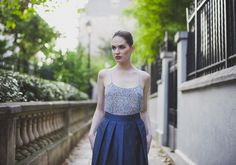Nola Top and Mina skirt - Spring-Summer 2015 collection - #bespoke #madetomeasure