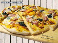 Ponto de Rebuçado Receitas: Piza de bacon, espinafres e ovo