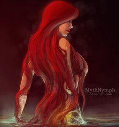 Ariel, Illustration Fanart, disney princesse by Mythnymph Dark Disney, Disney Magic, Disney Fan Art, Disney Love, Character Inspiration, Character Art, Pin Up, Fantasy Characters, Disney Characters