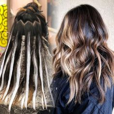 10 medium to long hair styles ombre balayage hairstyles ideas for women 2019 45 . 10 medium to lon Balayage Ombré, Brown Hair Balayage, Brown Blonde Hair, Brown Hair With Highlights, Hair Color Balayage, Blonde Highlights On Dark Hair Brunettes, Balayage Hair Brunette Long, Bayalage, Ombre Hair Color