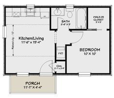 1 Bedroom House Plans, Guest House Plans, Pool House Plans, Small House Floor Plans, Cabin Floor Plans, Cottage House Plans, Tiny Cottage Floor Plans, Studio Floor Plans, Guest Houses