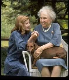 """Helen Keller (1880 - 1968) Blind and deaf from the time she was a toddler, Helen Keller (seen here with actress Patty Duke, who portrayed her on Broadway and film in """"The Miracle Worker"""") overcame many obstacles to change common perceptions of what a person with disabilities could achieve. She remains one of America's most-inspiring women. (Getty Images / Time & Life Pictures / Nina Leen)"""
