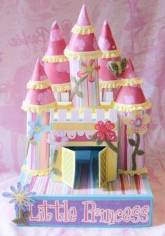 Paper castle jewelery box.