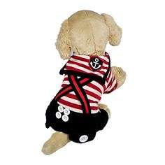 Colorful Stripe Pattern Sailor Suit with Straps for Dogs (Assorted Colors,XS-XL) – USD $ 12.99