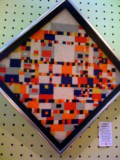 Mondrian needlepoint | Flickr - Photo Sharing!