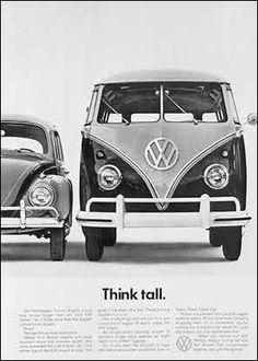Volkswagen advertising 1950