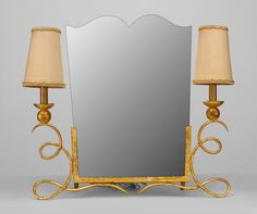Art Deco French mirror dressing table mirror gilt