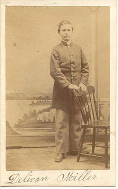 Delavan S. Miller enlisted at the age of 12 and served as a drummer in Co. H, New York Heavy Artillery. American Civil War, American History, Union Army, War Image, Civil War Photos, Political Figures, War Photography, Vintage Photography, First Nations