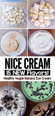 Vegan Banana Nice Cream Or Ice Cream (healthy snack or dessert)