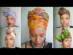 Headwrap tutorial #1 / Attaché de foulard, lesso, turban - YouTub