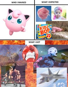 "Haha! I think Jigglypuff is one of the most difficult characters to use, and can end up like the ""What I expected"" if used incorrectly. But this is funny."