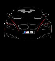 BMW M5 E60 T Shirt NEW Graphic Design 520 525 530 540  S - 5XL