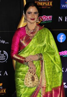 Actress Rekha At The Green Carpet Of The IIFA Rocks 2019 Indian Designer Saree TOLLYWOOD STARS Photograph INDIAN DESIGNER SAREE TOLLYWOOD STARS PHOTOGRAPH | IN.PINTEREST.COM WALLPAPER EDUCRATSWEB