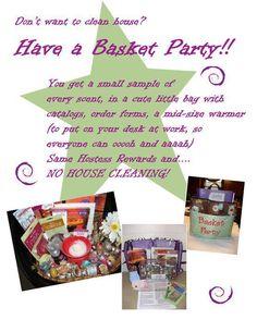 Basket Party chrysti.scentsy.us