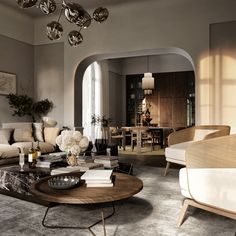 Spacious Apartments In Sardinia. Living Area on Behance Living Room Interior, Interior Design Living Room, Living Room Designs, Living Rooms, Luxury Apartments, Small Apartments, Cozy Reading Rooms, Loft Industrial, Beauty Salon Interior