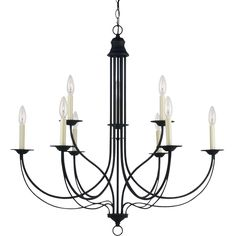The 'Plymouth' nine-light chandelier provides abundant light to your home, while adding style and interest. This Colonial-inspired fixture is a perfect fit for both casual and formal homes, featuring braided rope detail on the outer arms.
