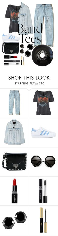 """AcDc Tee"" by monika2006 ❤ liked on Polyvore featuring Hollister Co., Topshop, Alexander Wang, adidas, Valentino, Smashbox, Christian Dior, West Coast Jewelry and Yves Saint Laurent"