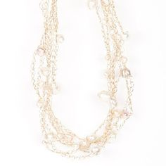 Cloud Necklace with Freshwater Baroque Pearls in Warm Palette