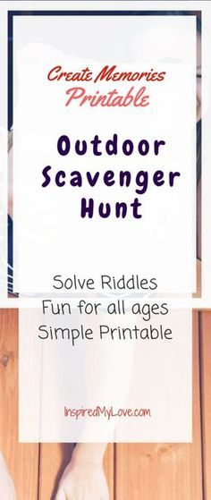 Printable outdoor scavenger hunt that kids will love! Need outdoor scavenger hunt ideas for kids, you found it! An outdoor scavenger hunt for all ages. Includes outdoor scavenger hunt riddles, makes the perfect outdoor kids activities. Camping Scavenger Hunts, Scavenger Hunt Riddles, Easter Scavenger Hunt, Outdoor Scavenger Hunts, Christmas Scavenger Hunt, Scavenger Hunt Birthday, Nature Scavenger Hunts, Halloween Scavenger Hunt, Scavenger Hunt For Kids