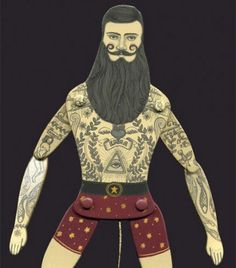 Artist in LA LA Land Illustration & Design: Tattooed Circus Performers: Articulated Paper Dolls and Puppets of Lindsey Carr