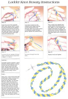Page 2 Step By Instructions For The Ladder Knot Cord Rosaries An Advanced Knotted Rosary Using Technique