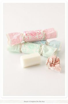Murphy And Daughters Bon Bon Soap. Love the packaging! And love the white soap inside Soap Packaging, Pretty Packaging, Packaging Design, Packaging Ideas, Simple Packaging, Savon Soap, Creature Comforts, Home Made Soap, Pretty Pastel
