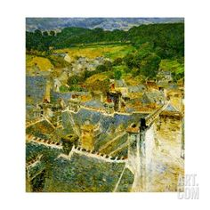 Rooftops, Pont-Aven, Brittany, 1897 Giclee Print by Childe Hassam at Art.com