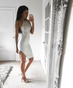 """Simple yet elegant look • Dress @misspap for discount use code Scarlett10 • Shoes @luxetokill """
