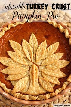 This Adorable Turkey Crust Pumpkin Pie is easy to recreate, and will amaze your family and friends this holiday season. Let me show you how easy it is to assemble, and bake. - Kudos Kitchen by Renee - kudoskitchenbyrenee.com