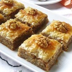 Walnut Baklava. I love Baklava. Won't make it...just a reminder to eat some!