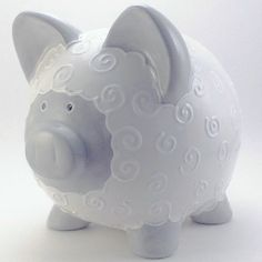 Personalized Piggy Bank  Lamb  with hole or NO hole by ThePigPen, $45.50