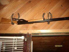 wood gun rack 3 slots napkin