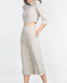 CROP TOP-Co-ord Sets-WOMAN | ZARA United States