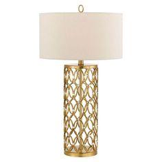 Satin Brass Table Lamp