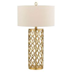 Satin Brass Table Lamp