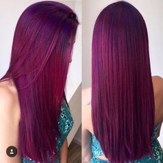 30 Dark Red Hair Color Ideas & Sultry Showstopping Styles - New Hair Maroon Hair Colors, Hair Color Purple, Hair Dye Colors, Cool Hair Color, Red Colour, Red Purple Hair, Violet Hair Colors, Plum Hair, Bright Hair Colors
